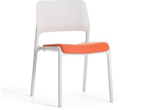 spark stacking side chair with seat pad hivemodern