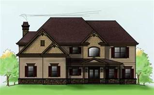 house plans 2 story two story 4 bedroom home plan with 3 car garage