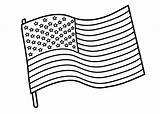 Flag Coloring American Pages sketch template