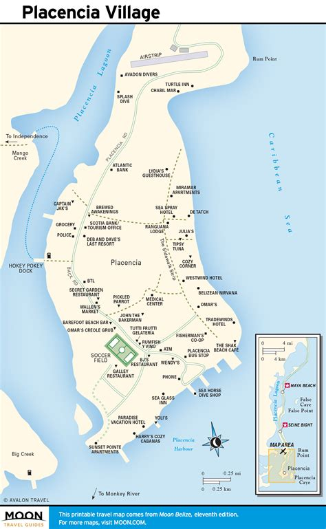 Printable Travel Maps of Belize | Moon Travel Guides