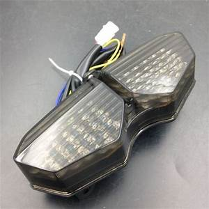 Abs Plastic Turn Signals Led Tail Break Light Smoke For