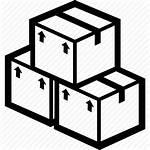 Clipart Icon Boxes Transparent Cardboard Line Produk