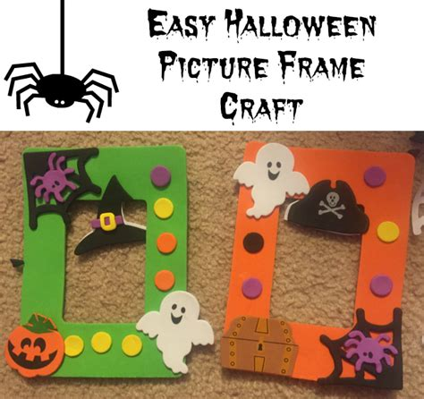 Nanny To Mommy Easy Halloween Picture Frame Craft