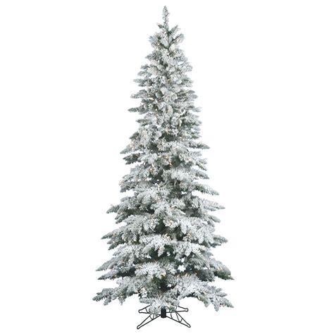10 foot slim flocked utica fir christmas tree warm white