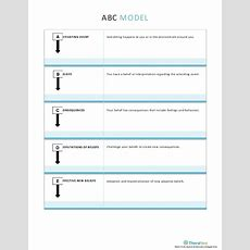 Abc Model Worksheet  Psychology And Psychotherapy Worksheets