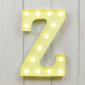 vegas metal led circus letter light z by all things With led letter lights