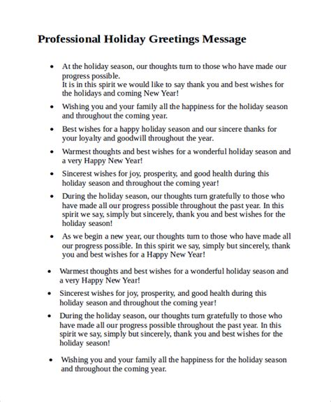 christmas sms for professional 8 sle greeting messages sle templates