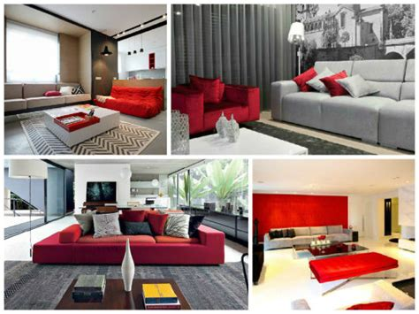 sofa vermelho queimado sala cinza 40 inspira 231 245 es dicas e ideias imperd 237 veis