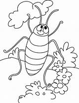 Coloring Cockroach Pages Cartoon Printable Cockroaches Sheets Bestcoloringpagesforkids Tree sketch template