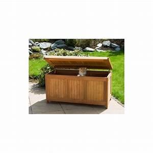 Banc Coffre Bois : banc coffre de rangement jardin ext rieur en bois avec coussin ~ Teatrodelosmanantiales.com Idées de Décoration