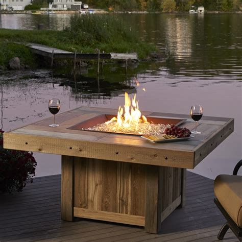 pit table gas outdoorlivingdecor