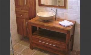 meuble salle bains bois zen mon rdv habitat With habitat meuble salle de bain