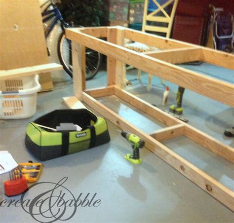 build wood porch railing basement workbench ideas
