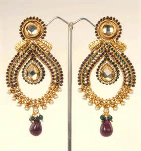 craftsvilla earrings stunning earrings in teardrop design by adiva abpol0da0010