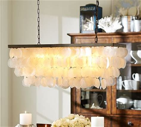 Maybe you would like to learn more about one of these? Capiz Rectangular Chandelier | Pottery Barn