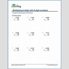 Grade 6 Multiplication & Division Worksheets  Free & Printable  K5 Learning