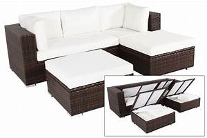 best gartenmobel set polyrattan braun images house With garten planen mit rattan set balkon