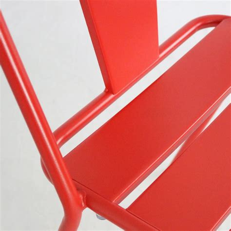 Chaise Rouge Bistrot Metal
