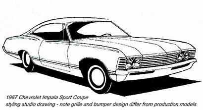Impala 1967 Chevrolet Sketch Chevy 67 Clipart