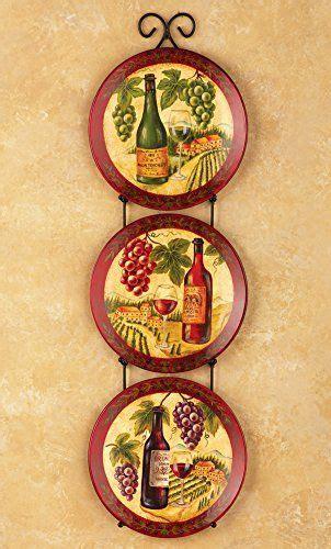 set   decorative wine vineyard plates metal hanging display rack knl store httpwww