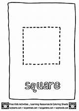 Square Coloring Pages Shape Print Printable Preschool Squares Getcoloringpages Learn Draw Guardado Desde sketch template