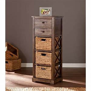 Storage, Shelves, With, Baskets, Bins, Drawers, Cabinets, Organizers, Wicker, Wood, Stand