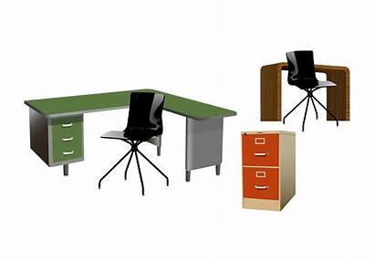 Office Vector Furniture Clipart Clip Sets Background