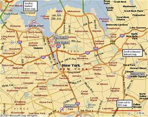 New York Map Queens Manhattan