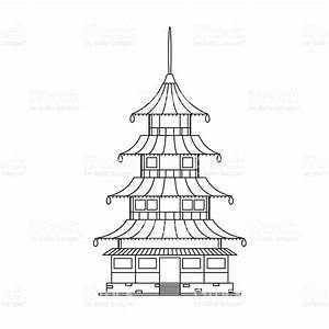 Chinese Buddhist Temple Monastery Building Vector Stock ...