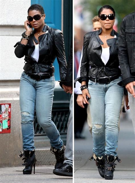 love    janet jackson jeans white  leather