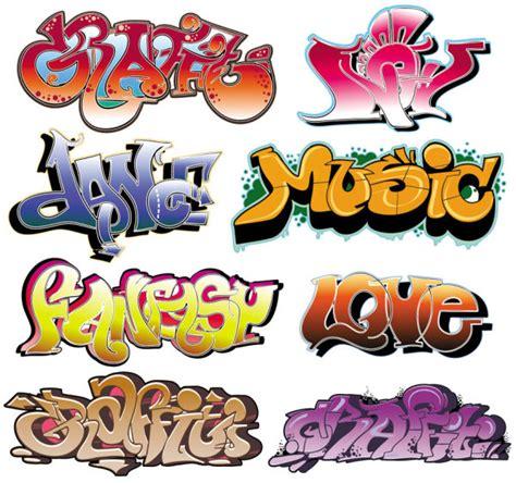 schriftarten design graffiti schriftarten schön gestaltet 03 vektor material free vector psd flash jpg