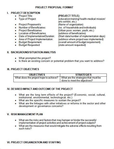 sample project proposal template   documents