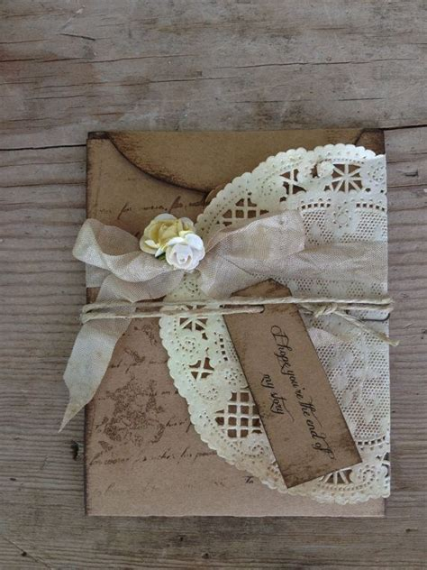 country chic favors rustic wedding invitation country