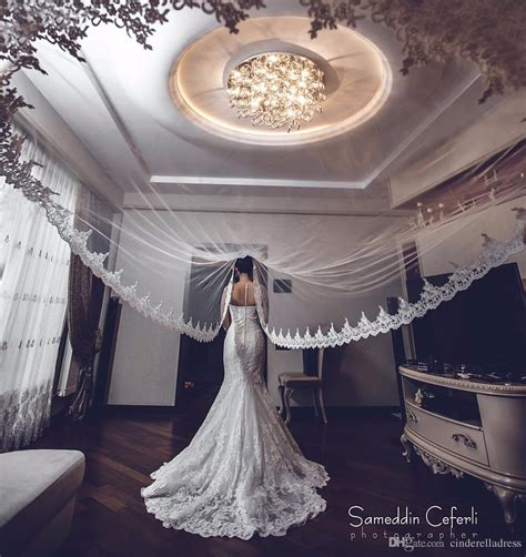 Hot Sale Whiteivory Applique Tulle 3 Meters Long Bridal