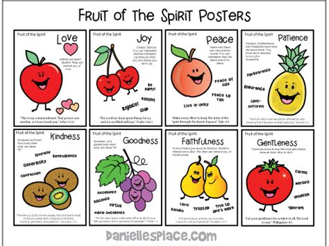 fruit of the spirit sunday school lesson 848 | fruit of the spirit posters