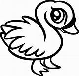 Coloring Pages Animal Swan sketch template