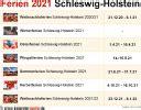 Alle termine und infos zu den ferien in bw. Ferien Schleswig-Holstein 2021 - Übersicht der Ferientermine