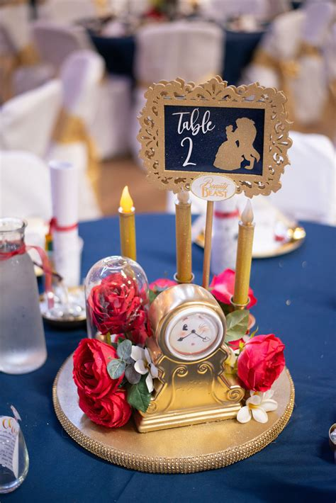 Disney wedding centerpiece Beauty and the Beast Disney