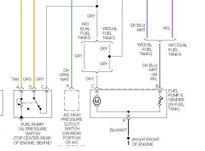 Chevy Truck Fuel Pump Relay Electrical Problem