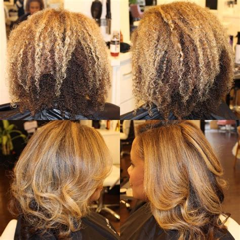 Coloring Relaxed Hair by Best 25 Hairstyles For Relaxed Hair Ideas On