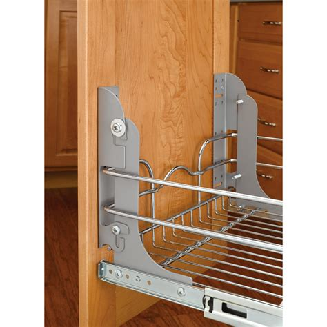 Ikea Metal Shelves Kitchen by Shop Rev A Shelf Pull Out Trash Can Mounting Kit At Lowes Com