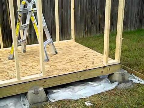 build  shed part  shed foundation youtube