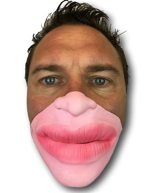 fat lips  face mask rubber johnnies masks