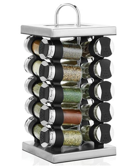 Martha Stewart Spice Rack by Martha Stewart Collection Square Stainless Steel Spice