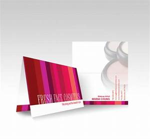 20 vibrant examples of folded business cards tutorialchip for Vistaprint folded business card