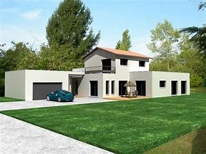 Maison Moderne Toit Plat : plan maison contemporaine californienne ~ Nature-et-papiers.com Idées de Décoration