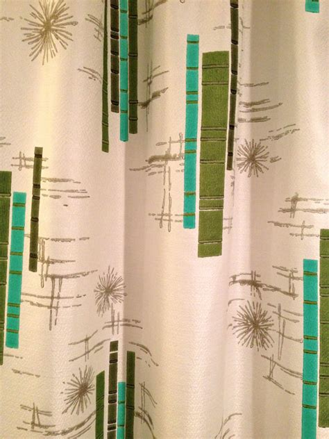 vintage retro mid century modern pinch pleat drapes curtains