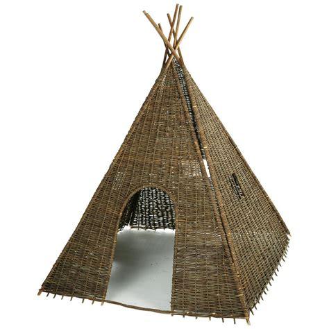 tipi maison du monde tipi indien en osier tress 233 h 202 cm heyoka maisons du monde