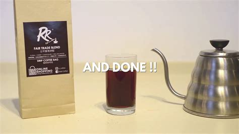 But it depends on the water temperature. How to make a Drip Coffee Bag - YouTube