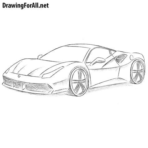 ferrari enzo sketch how to draw a ferrari drawingforall net